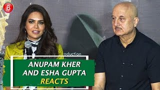Anupam Kher and Esha Gupta REACTS on Vivek Oberois Meme Controversy