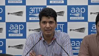 AAP Chief Spokesperson Congratulate PM Modi and BJP For Forming Full Majority Govt (Hindi)