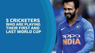 Five Cricketers who are playing their first & last World Cup