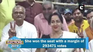 Hema Malini retains Mathura LS seat by near 3 lakh votes
