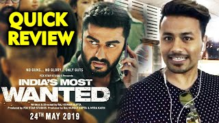 Indias Most Wanted QUICK REVIEW | Arjun Kapoor
