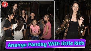 Ananya Panday Poses With Little Kids