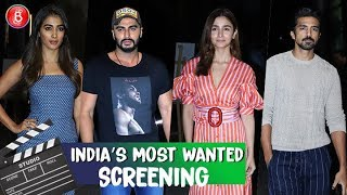 Arjun Kapoor Alia Bhatt Vidya Balan Attend Indias Most Wanted' Screening