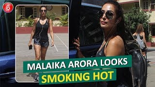 Malaika Arora Looks Smoking HOT In A Noodle-Strip Body Con Dress