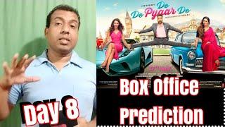 De De Pyaar De Box Office Prediction Day 8