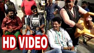 #Meking Bhojpuri फिल्म दिल धक धक करे के सेट पर मस्ती के मूड में अरविंद अकेला कल्लू जी