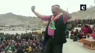 Jammu And Kashmir: BJP supporters celebrate in Leh, Ladakh