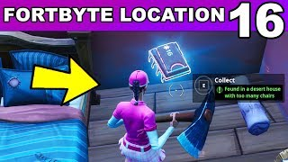 FORTBYTE #16 - Found in a Desert House with too many Chairs LOCATION Fortnite Fortbyte 16 Challenge