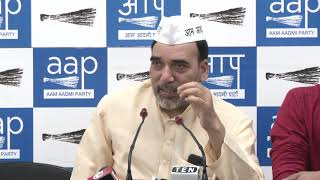AAP Delhi Convenor Gopal Rai Briefs Media on Lok Sabha Election 2019