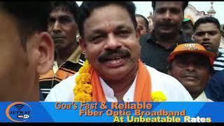 "BJP's Sopte Took Out ""vijay Rally' After Winning Mandrem"