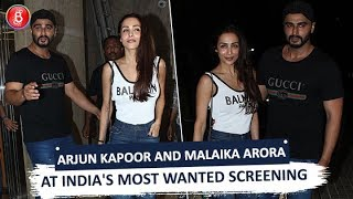Arjun Kapoor and Malaika Arora Pose For Media at India's Most Wanted Screening