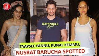 Taapsee pannu Kunal Kemmu, Amrita Arora Nusrat Barucha Spotted At Restaurant