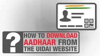 How to download Aadhaar from the UIDAI website