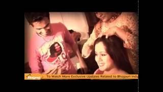 Hot Actress Gunjan Pant on Set Of Movie Bhail Tohar Se Pyar