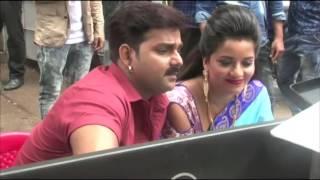 Sarkar Raj On Location Shoot Monalisa Bhojpuri Film