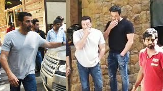 Sunny Deol And Bobby Deol At Ajay Devgns House For Offering Last Respect To Veeru Devgn