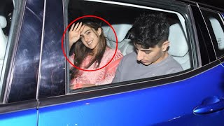 Sara Ali Khan With Brother Ibrahim Khan Spotted At Saif's House