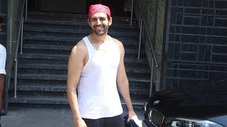 Kartik Aaryan Spotted Outside Gym I Think Fitness