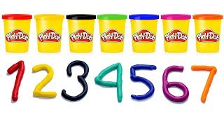 Learn Numbers With Play Dough - Kids Learning Video.
