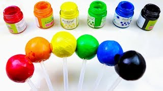 Learn Colors With Play Doh Lollipop Toys And Finger Family Rhymes.