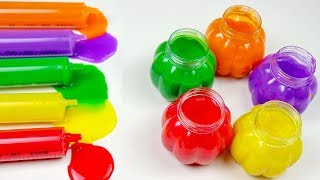 Learn Colors With Colorful Slime And Nursery Rhymes for Kids Children.