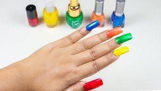 Learn Colors With Nail Polish Finger And Family Nursery Rhymes - Toys Songs for Kids