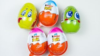 5 Kinder Joy and Surprise Egg Opening - Mystery Chocolate Eggs And Toys Video.