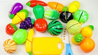Learn Fruits Name with Toy Velcro Cutting Fruit Playset - Toy Learning Educational Video For Kids.