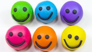 Play & Learn Colors With Play Dough Smiley Face Heart Molds - Creative Toys for Kids.