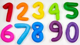 Learn to Count Numbers 1 to 10 for Toddlers Babies With Play Doh Toys For Kids.