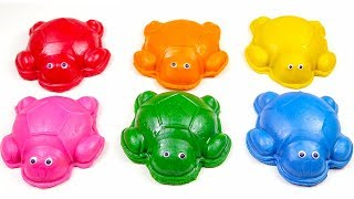 Creative Things Making With Playdoh for Kids - Learn Colors And Sea Animals Name With Toy Turtles.