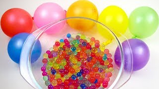 Orbeez Color Balloons And Gummy Cola Bottle Making With Jelly Toys to Learn Colors For kids.