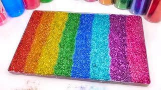 Learn Colors Pretend Play With Slime Mix Combine Glitter - Video for kids.