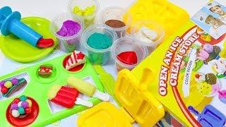 Playdoh Ice cream Dessert Maker Molds Play-set - Toy Unboxing Video For Kids.