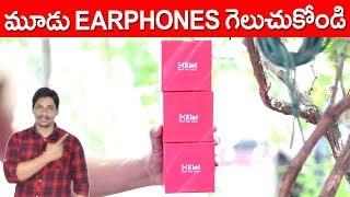 Earphones under 550 | Klef X1 Metal in Ear Headphone unboxing and giveaway telugu