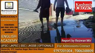 Locals of Shahi Hamdan Colony Baramulla Demand Proper Drainage System.Report by Rezwan Mir