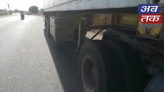 vanthali   Accident between cars and truck