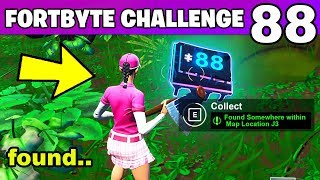 Fortnite Fortbyte #88 Found Somewhere within Map Location J3 (Fortnite Battle Royale)