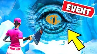 ???? POLAR PEAK EYE EVENT HAPPENING RIGHT NOW! MONSTER UNDER GREASY GROVE (Fortnite Battle Royale)
