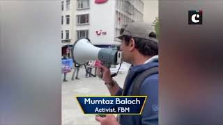 Free Balochistan Movement activists stage protest in Germany against Pak's nuclear weapons