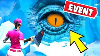 ???? POLAR PEAK EYE EVENT HAPPENING RIGHT NOW! GODZILLA UNDER GREASY GROVE (Fortnite Battle Royale)