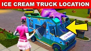 SPRAY AN ICE CREAM TRUCK - (Downtown Drop Challenge Guide) Fortnite Battle Royale