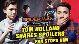 Tom Holland Shares Spider-Man: Far From Home Spoiler, Fan Stops Him