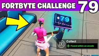 FORTBYTE #79 - Found Within an Arcade LOCATION Fortnite Fortbyte 79 Challenge