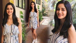 Ananya Pandey Spotted At Kwan Office Andheri - Watch Video