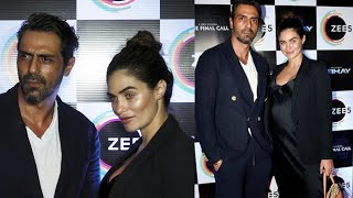 Arjun Rampal With Pregnant Girlfriend Gabriella At The Final Call & Abhay Success Party