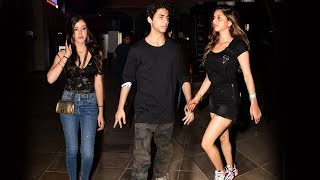 Aryan Khan And Suhana Khan Spotted At Friends Party In Mumbai