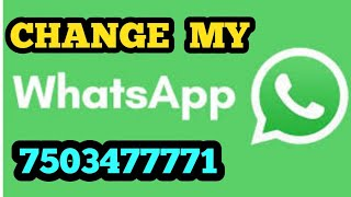 My WhatsApp Change 7503477771