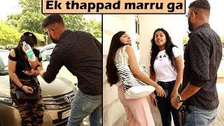 Slapping Prank on Cute Girls | Unglibaaz