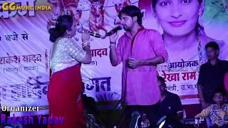 भोजपुरी हीरोइन वर्षा तिवारी हीरो राकेश मिश्रा 2019 का धमाकेदार लाइव मुकाबला #Bhojpuri Live Video HD